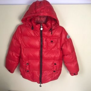 MONCLER Authentic Kids Water Resistant Down Puffer Coat Hood Pockets Warm Unisex